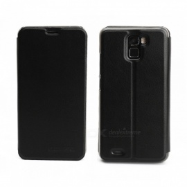 OCUBE Protective Flip-open PU Leather Case for Oukitel K5000 5.7 Inches - Black