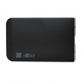 """2.5"""" SATA USB 2.0 HDD Enclosure with Leather Pouch - Black"""