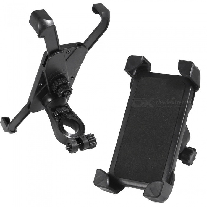 Universal Portable Adjustable Bicycle / Motorcycle Phone Holder Bracket - Black