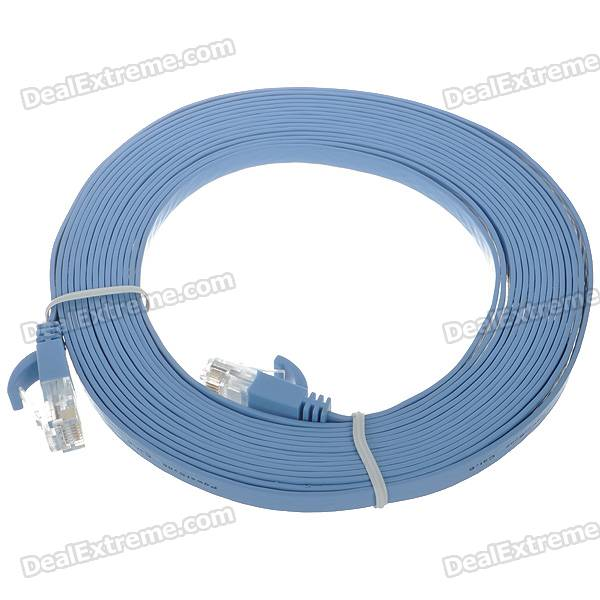 Cat.6 RJ-45 Giga-Speed Ultra Flat LAN Network Cable (5M)