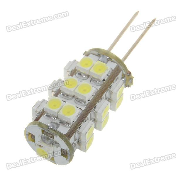 G4 1.25W 110-Lumen 6500K 25-SMD LED Car White Light Bulb (DC 12V) l20121211 1 h7 12w 600lm 6500k 4 smd 7060 led white light car dipped headlight dc 12v