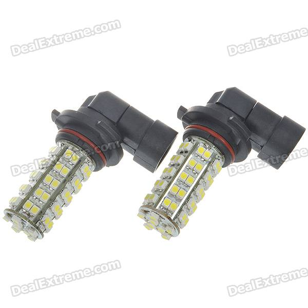 9006 3.5W 68-SMD LED 310-Lumen 6500K Fog White Light Bulbs (Pair/DC 12V) 9006 6w 190 lumen 18x5050 smd led car white light bulb dc 12v