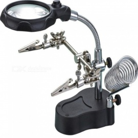 Kelima Multi-function Magnifier with 2 LED, Precision Electronic Soldering Welding Station