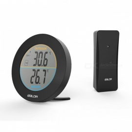 Baldr Table Wireless Thermometer with Max/Min Records Trend Indicator Monitor, LCD Display Digital Wall Temperature Meter Sensor