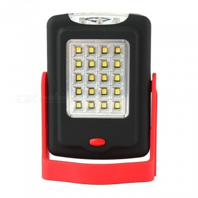 ZHAOYAO 5W Multi-function Outdoor Lighting 20-2835 SMD LEDs Working Light with Bracket + Magnet + Hook - Black + Red