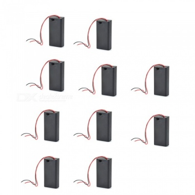 ZHAOYAO Battery Holder with Wires and Switch for 2 x AA Battery (10 PCS)