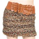 Fashion Brown Leopard Cotton Skirt (Waist Girth 24
