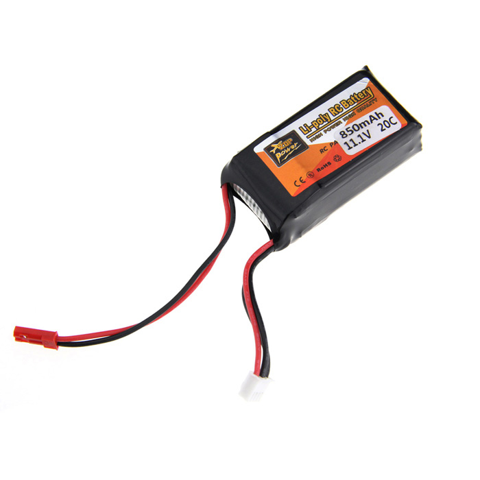 11.1V 850mAh 20C Replacement Li-Poly Battery Pack for TREX 250 RC Helicopter
