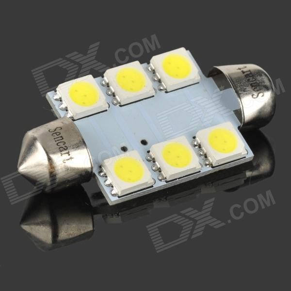 39mm 1.35W 6-SMD LED 84-Lumen 6500K White Dome Light (DC 12V)