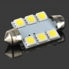 39mm 1.35W 6-SMD-LED-84 Lumen 6500K White Dome Light (DC 12V)