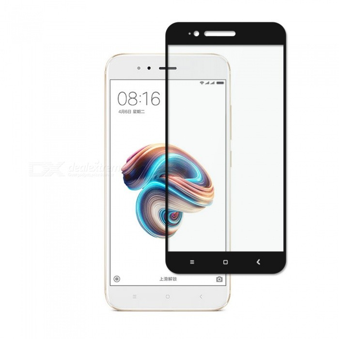 Dayspirit Tempered Glass Screen Protector for Xiaomi Mi A1, (5X) - Black