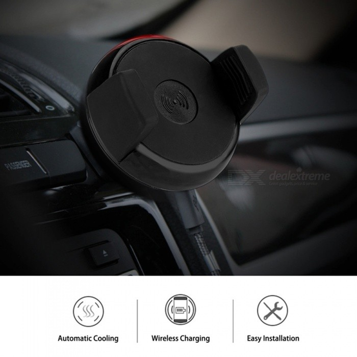 air de voiture mont qi chargeur sans fil coussin de charge w fonction de support pour iphone. Black Bedroom Furniture Sets. Home Design Ideas