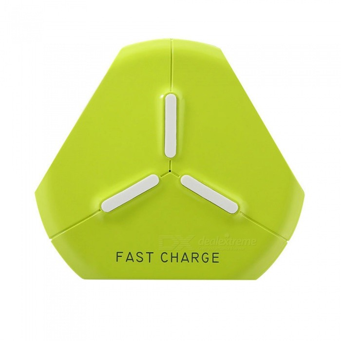Measy Fast Wireless Charging Pad for IPHONE X / 8 / 8 Plus, Galaxy S8/ S8  Plus/ S7 / S6 / Note 8 / Note 5 - Yellow