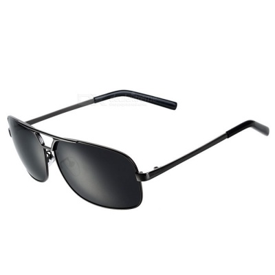 Polarized Glare-Guard UV400 Protection Alloy Frame Sunglasses - Black