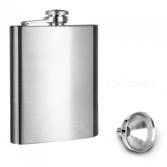 200ML Outdoor Carry-on Portable 304 Stainless Steel Flagon - Silver