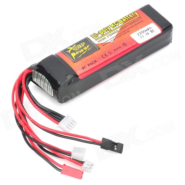 11.1V 2200mAh 8C Replacement Li-Poly Battery Pack for Futaba FF9/JR 9X2/DSX9 Remote Controller