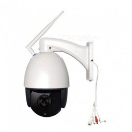 2.0MP Wireless Wi-Fi IP Camera, Home Security Video Surveillance Camcorder, Support TF Card - White + Black (US Plug)