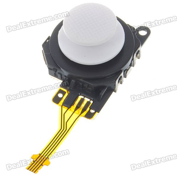 Repair Parts Replacement 3D Analog Joystick for PSP 3000 - White repair parts replacement bus wires for psp 3000 3 piece set