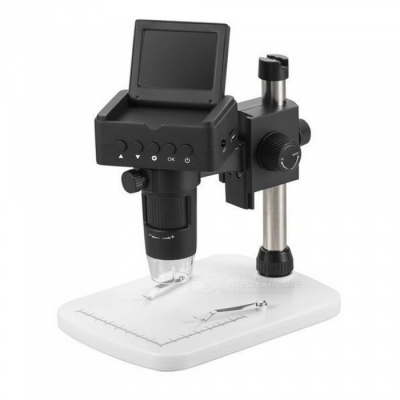 UM025 1080P 2.4inch LCD HDMI USB Digital Microscope Magnifier with TV, HDMI, USB Output - Black (EU Plug)