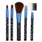 Professional Make-up Brushes Set - Black (5-Piece Set)