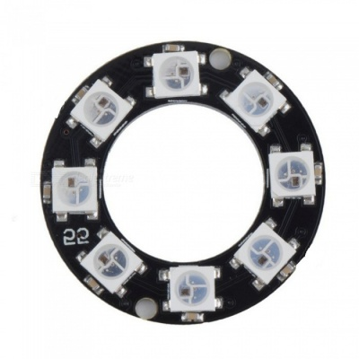 Produino WS2812 8-Bit 5050 RGB LED Lamp Panel, Round Ring LED Driver Development Board for Arduino