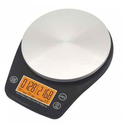 ZHAOYAO V60 Mini Coffee Drip Scale with Timer Function, 0.1G to 3000G Kitchen Weight