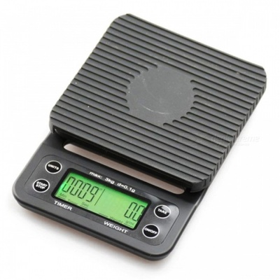 ZHAOYAO V60 Mini Digital Coffee Scale Weigh with Timer Function for Kitchen Household Use