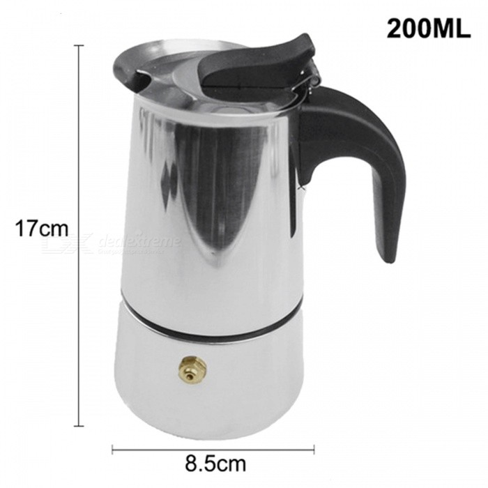ZHAOYAO 200ML Stainless Steel Espresso Maker Kitchen Drip KettleเธƒเธŒ Tea Coffee Pot Extractor