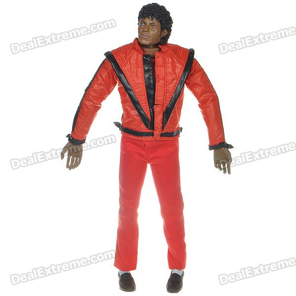 Michael Jackson Action Figure Toy Set (Red)
