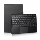 Bluetooth Keyboard with PU Leather Cover Folding Stand for 9.6-10.6 Inches Tablet PC