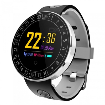 Q8 Plus Color Touch Screen Smart Watch Bracelet with Heart Rate / Blood Pressure Monitor, Pedometer - Gray