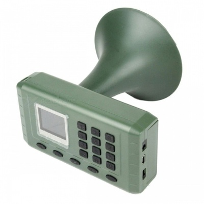 CP-380 Animal Sound Loudspeaker Audio Player, Hunting Decoy Speaker Bird Caller with Remote Control and Charger