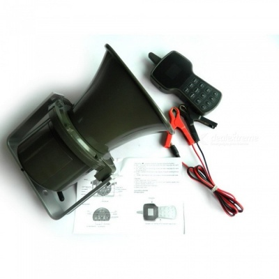 CP-590 250m Hunting Decoy MP3 Bird Caller w/ Bulit-in 50W Speaker, 400 Sounds, Remote Control