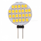 G4 1.2W 108-Lumen 3500K 24-SMD LED Car Warm White Light Bulb (DC 12V)
