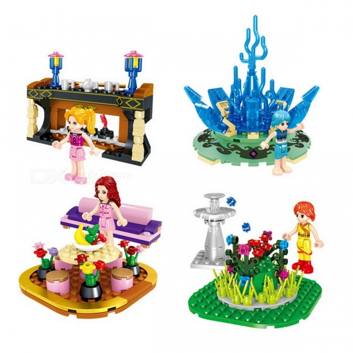 Image of Zhegao1601 280pcs Friends Princess Building Blocks MY WORLD Baby Gift Toy Furniture Set Toys Model Toys