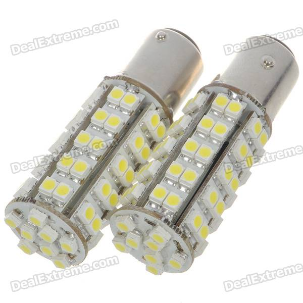 1157 3.5W 68-SMD LED 6500K 310-Lumen White Light Bulb for Car (Pair/DC 12V) 9006 6w 190 lumen 18x5050 smd led car white light bulb dc 12v