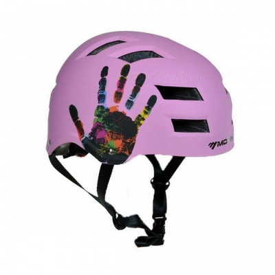 MOON Outdoor Sports Cycling Bicycle Helmet Skateboard Skating Safety Helmet - Pink (L Girth 58-61cm)