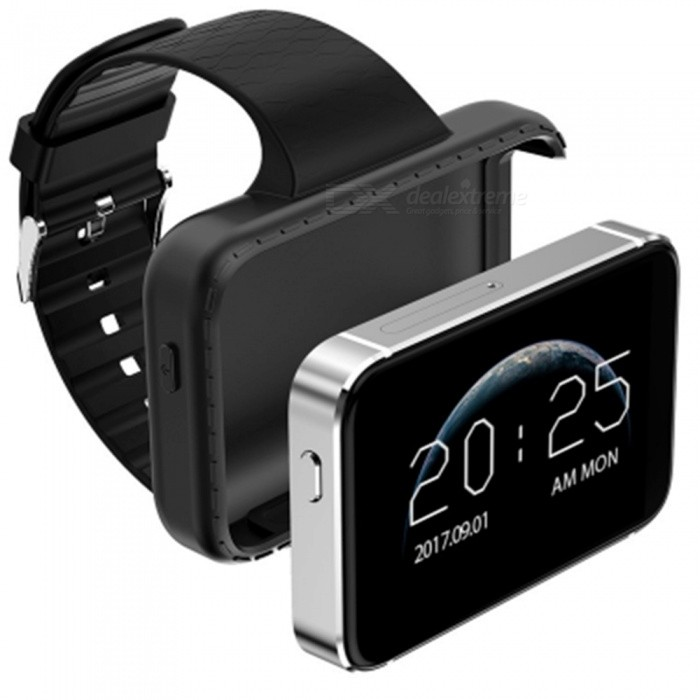 i5S Smart SIM Mobile Watch, Supports TF Card, Video Recording, Music, GSM MP3 MP4, Camera - Silver + Black