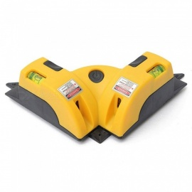 ZHAOYAO 90 Degree Laser Angle Line Instrument for Wall Tile Applying with 4 AA Batteries - Yellow
