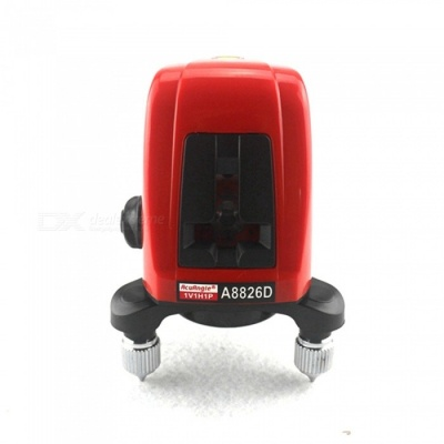 A8826D Laser Level 360 Degree Self- leveling Cross Laser Level Red Lines - Red