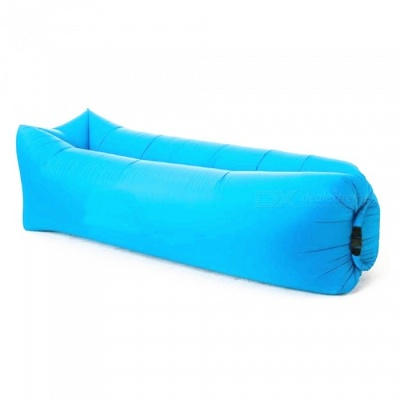 240 x 70cm Outdoors Square Convenient Folding Inflatable Multipurpose Doss Bed 200KG - Blue