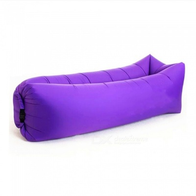 240 x 70cm Outdoors Square Convenient Folding Inflatable Multipurpose Doss Bed 200KG - Purple