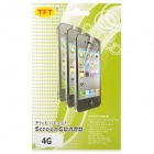 LCD Screen Guard Protector with Cleaning Cloth for iPhone 4