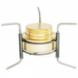OUT-D Ultra-light Copper Alloy Portable Mini Spirit Burner Alcohol Stove Outdoor Camping Stove Furnace with Stand