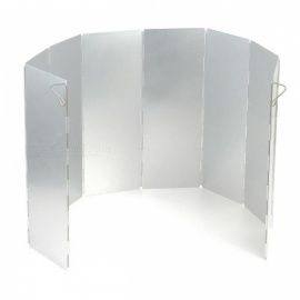OUT-D 8-Plate Aluminum Wind Screen for Use with Camping Stoves, Butane Stoves, Alcohol Stoves