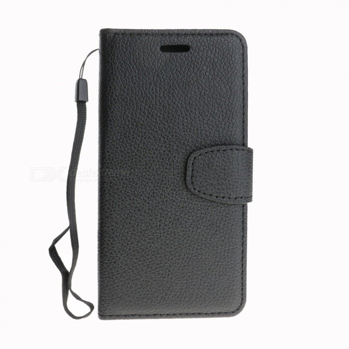 Dayspirit Lichee Pattern Leather Case for IPHONE X - Black