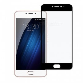 Dayspirit Tempered Glass Screen Protector for Meizu M3 , M3S - Black
