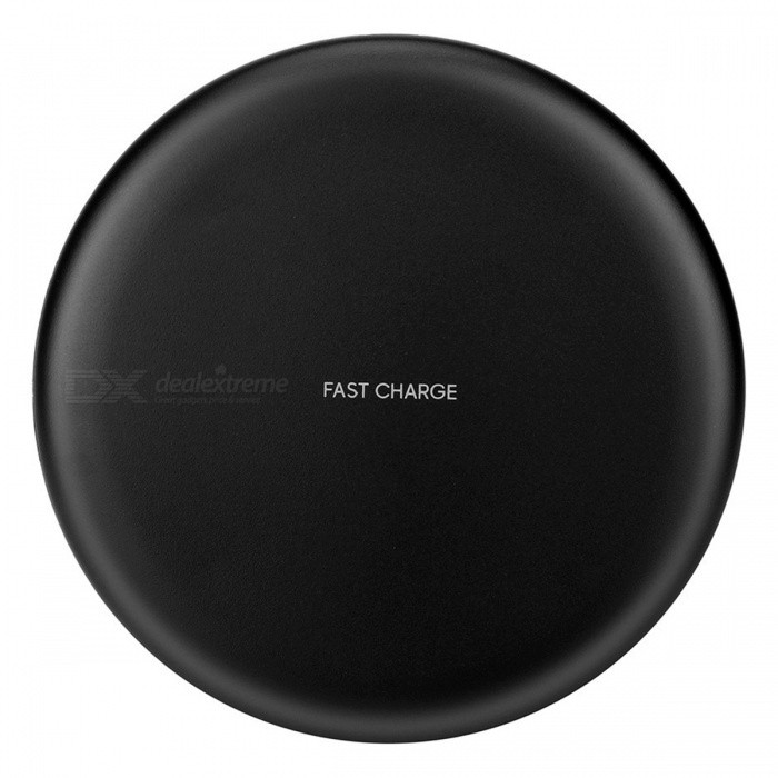 Cwxuan 10W Fast Wireless Charger Stand for IPHONE X 8/8Plus, Samsung S9 S8 S7, Any Qi Standard Phone - Black