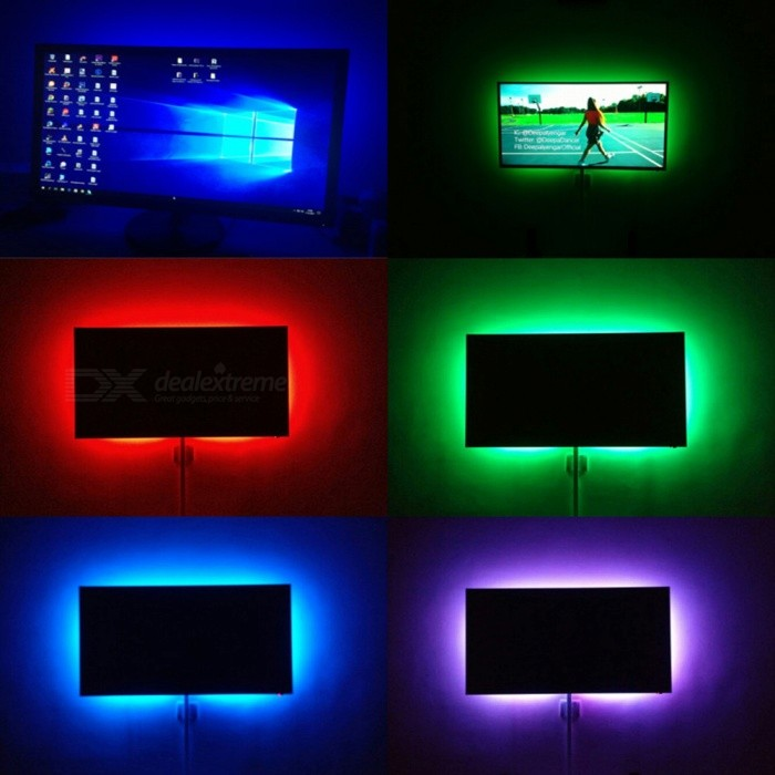 lumi re de bande de 1m diy dc 5v 3528 smd usb led ruban de cha ne de ruban pour la d coration d. Black Bedroom Furniture Sets. Home Design Ideas