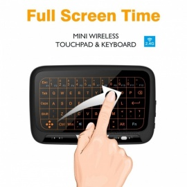 Measy H18+ 2.4GHz Backlit Wirless Mini Whole Glass Screen Panel Touchpad and Keyboard Combo